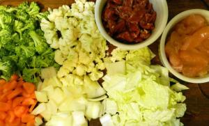 Ingredientes prontos