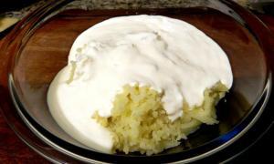 Batata moída e Creme de leite